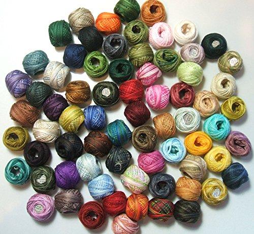 Valdani 3 Strand Cotton Floss Wonderful Color Thread Hand-dyed 72 Spool VAK1013 by Valdani