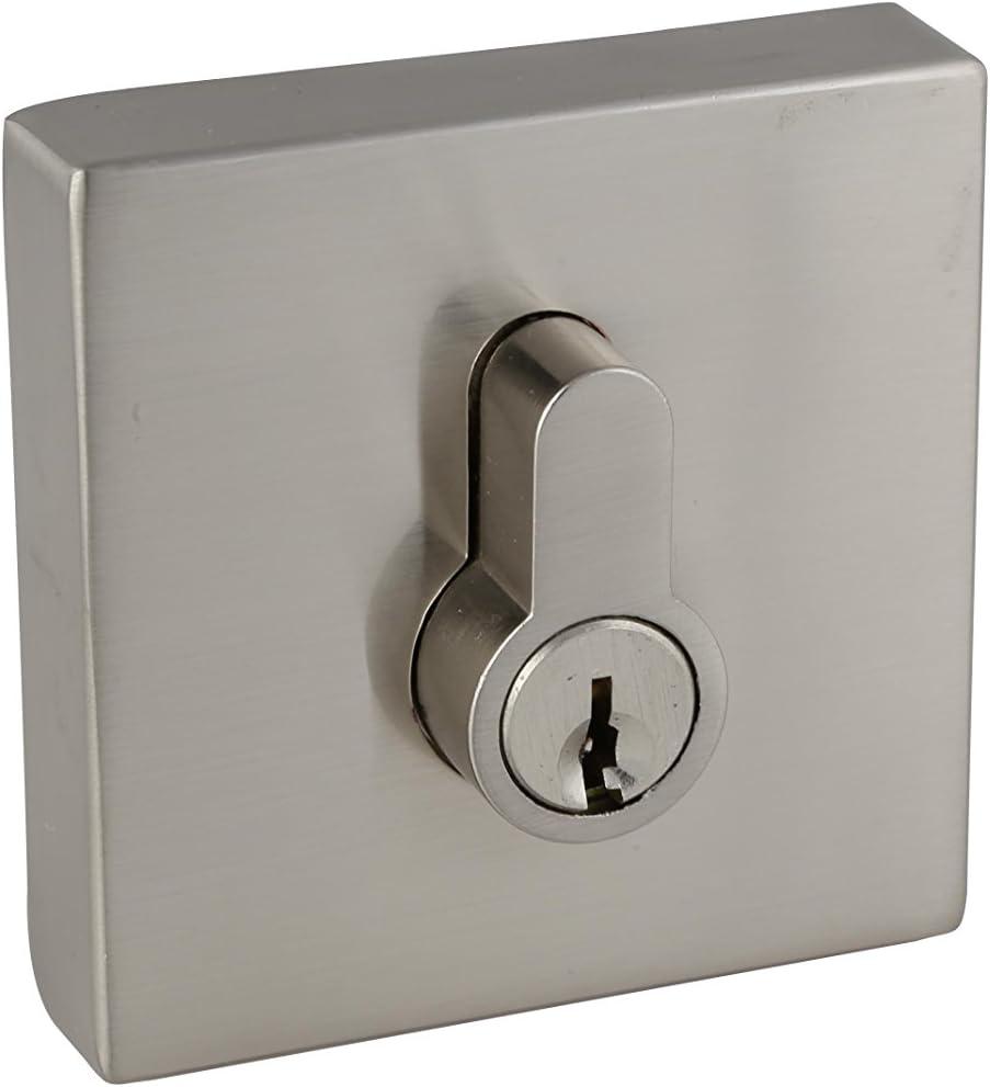 Design House 581835 Emblem Square Single Cylinder Deadbolt