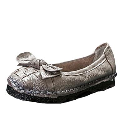 Vogstyle Damen Weinlese Handgemachtes Echtes Leder Ebene Schuhe Art 2 Blau EU36/CH37 68Kt83LBF