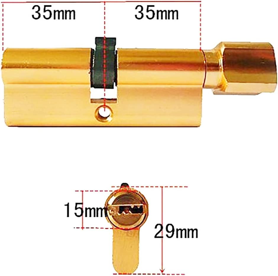 70mm High Security for Wooden Anti-Drill Anti-Bump Metal 2 Pieces UPVC and Composite Doors. Euro Door Barrel Lock with 3 Keys Anti-Pick Door Lock with Key Thumb Turn Euro Cylinder Lock 35//35