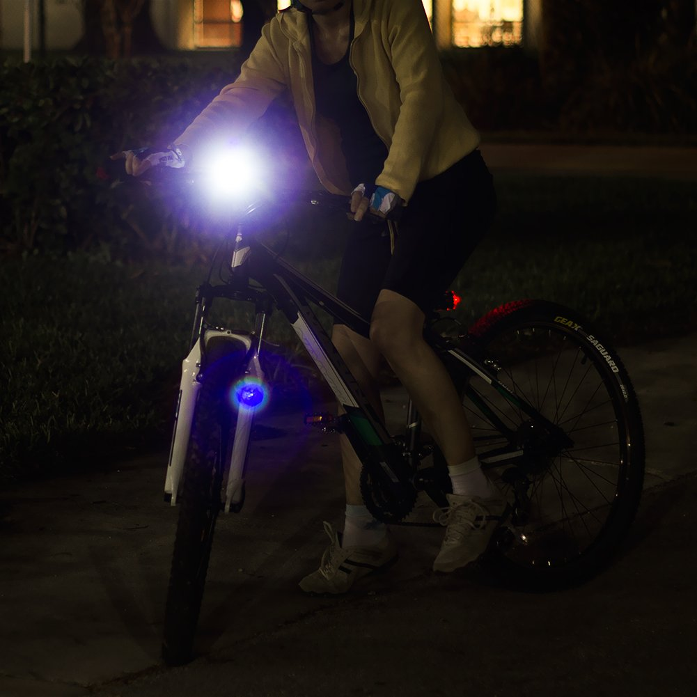 LED BIKE LIGHT SET. Bicycle headlight & taillight combo. Ultrabright 5 LED kit.. Use on bike or scooter. FREE high visibility reflectors. ~ In BG Lights gift box as pictured by BoG Products (Image #5)