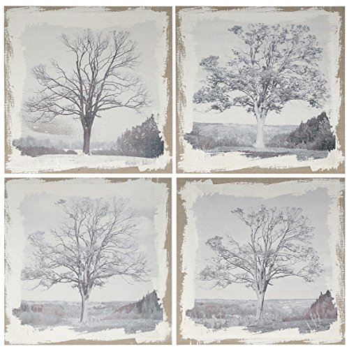 4 Wall Plaques - A&B Home Set of 4 Arboreal Wall Art