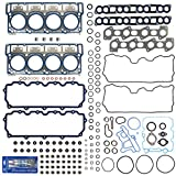 #6: New MLS Cylinder Head Gasket Set (18mm) w/RTV Silicone for 03-10 Ford 6.0L PowerStroke Diesel Turbo F-250 F-350 F-450 F-550 E350 E450 Super Duty