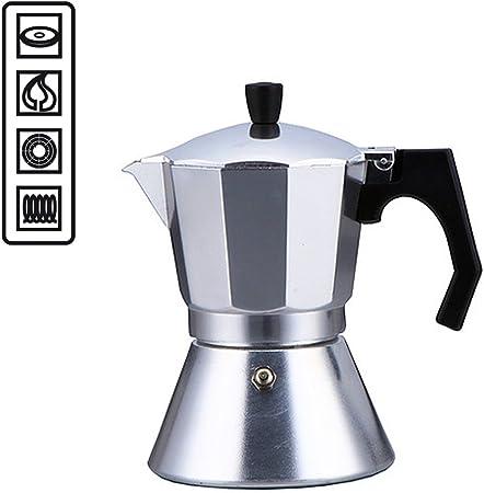 Cafetera de 6 tazas específica para placas de inducción, con fondo de acero compatible con cocinas