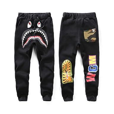 5ea3a1561 Amazon.com: New Bape A Bathing Ape Shark Head Trousers Mens Sports Casual  Cotton Sweat Pants: Clothing