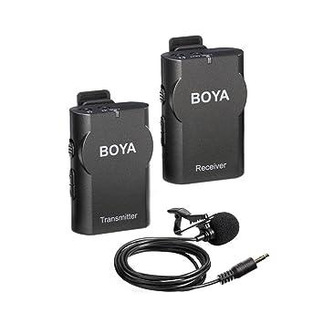 micrófono lavalier, boya by-wm4 inalámbrico sistema de micrófono ...