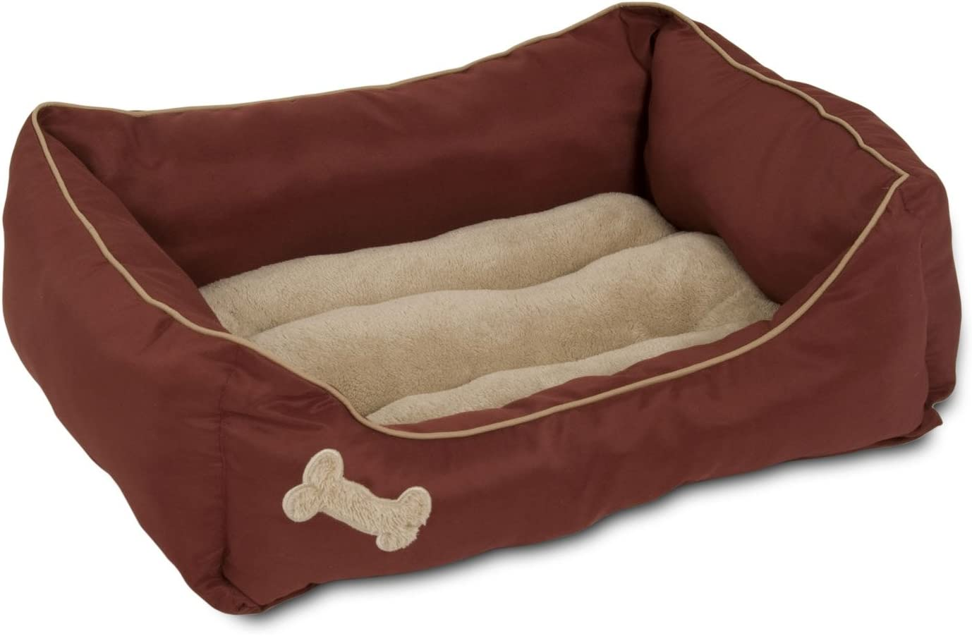 Petmate Rectangular Pet Lounger, 21-Inch by 25-Inch, Burnished Red