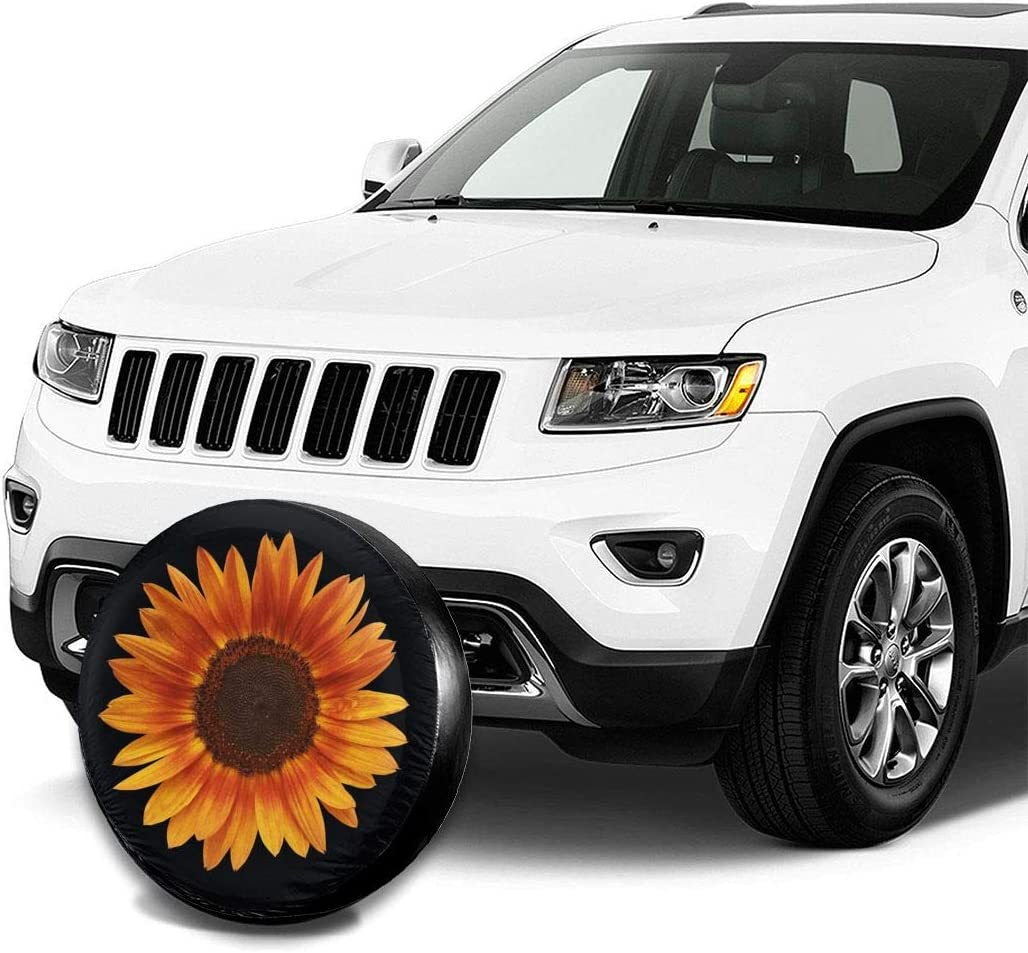 RV SUV and Many Vehicle 14 Inch Foruidea American Flag Print Spare Tire Cover Waterproof Dust-Proof UV Sun Wheel Tire Cover Fit for Jeep,Trailer