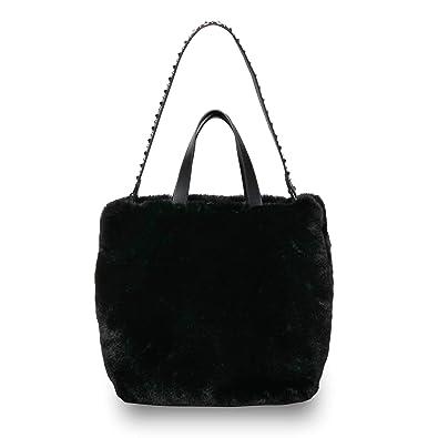 170842f6ab Ash SECRET Hobo Bag Black Faux Fur One Size BLACK.  Amazon.co.uk ...