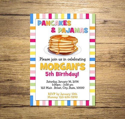 Amazon pancakes and pajamas invitation pancakes birthday party pancakes and pajamas invitation pancakes birthday party invitation pancakes pajamas party invites filmwisefo