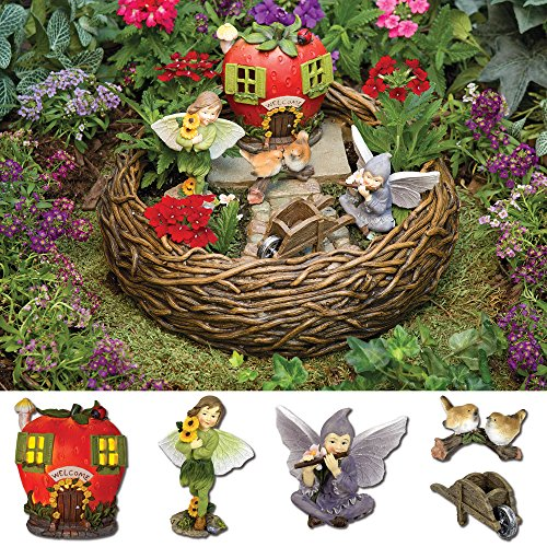 Cute Small Fairy Garden Kit - 6 piece set