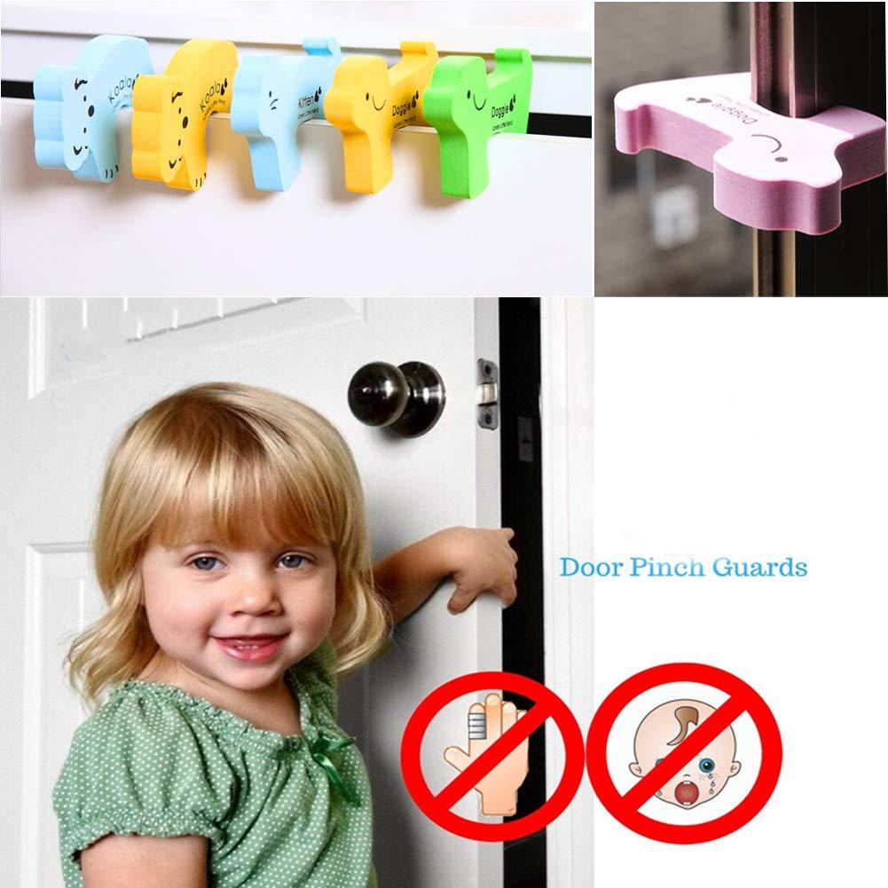 Baby Proof-Set Erstausstattung Baby-16 Ecken- und Kantenschutz 6 Schr/änke Schubladen Kindersicherungen 6-Finger-Prallschutz kein Bohrer erforderlich 28-tlg. Kinder-Sicherheitsset