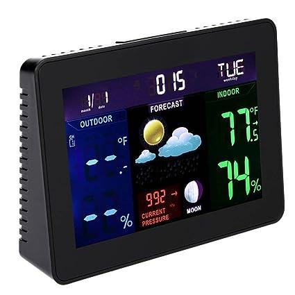 Reloj LCD De Pantalla LCD Digital Reloj Meteorológico Exterior Inalámbrico