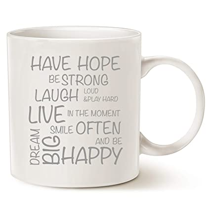 f7a6912acfa MAUAG Mothers and Fathers Day Gifts Funny Inspirational Coffee Mug  Christmas Gifts - Have Hope Be