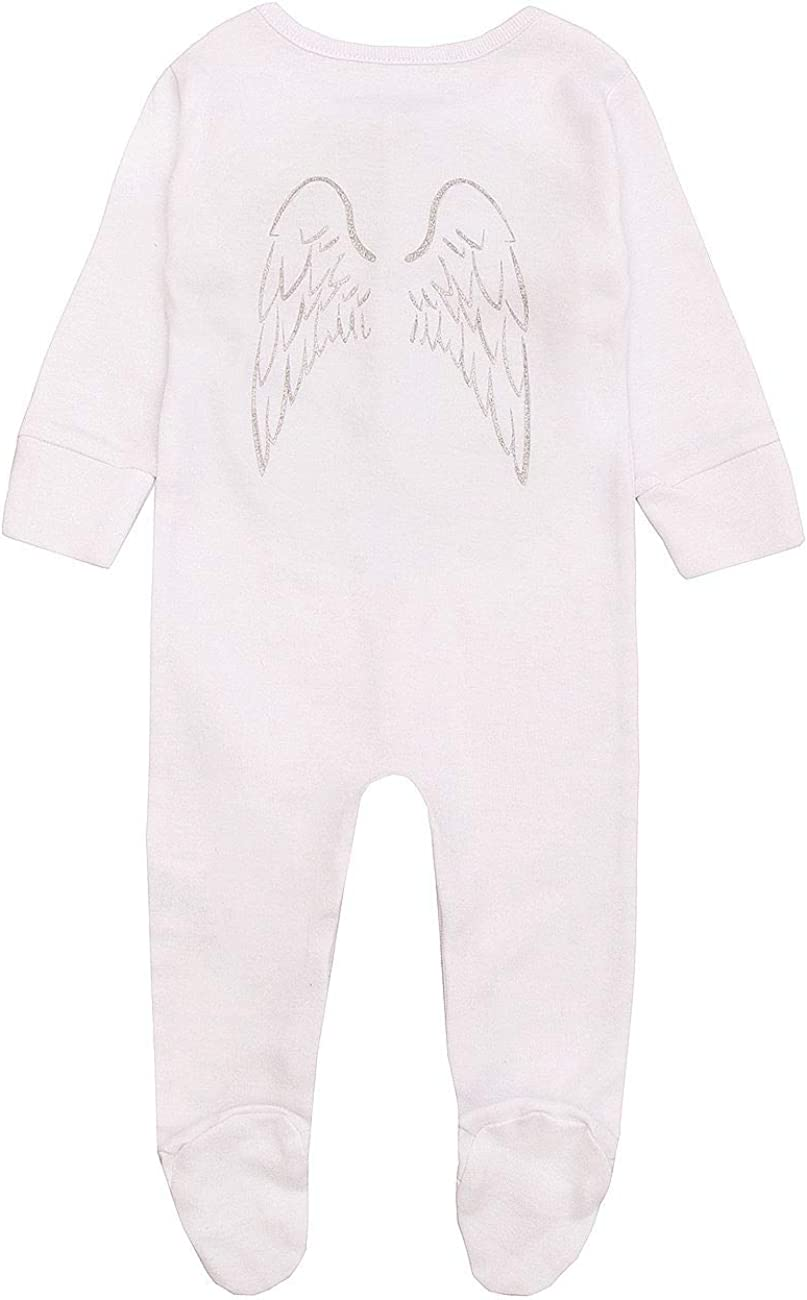 Style It Up Babies Sleepsuit Little Angel Wings Printed Back Baby Girls Baby Boys Newborn