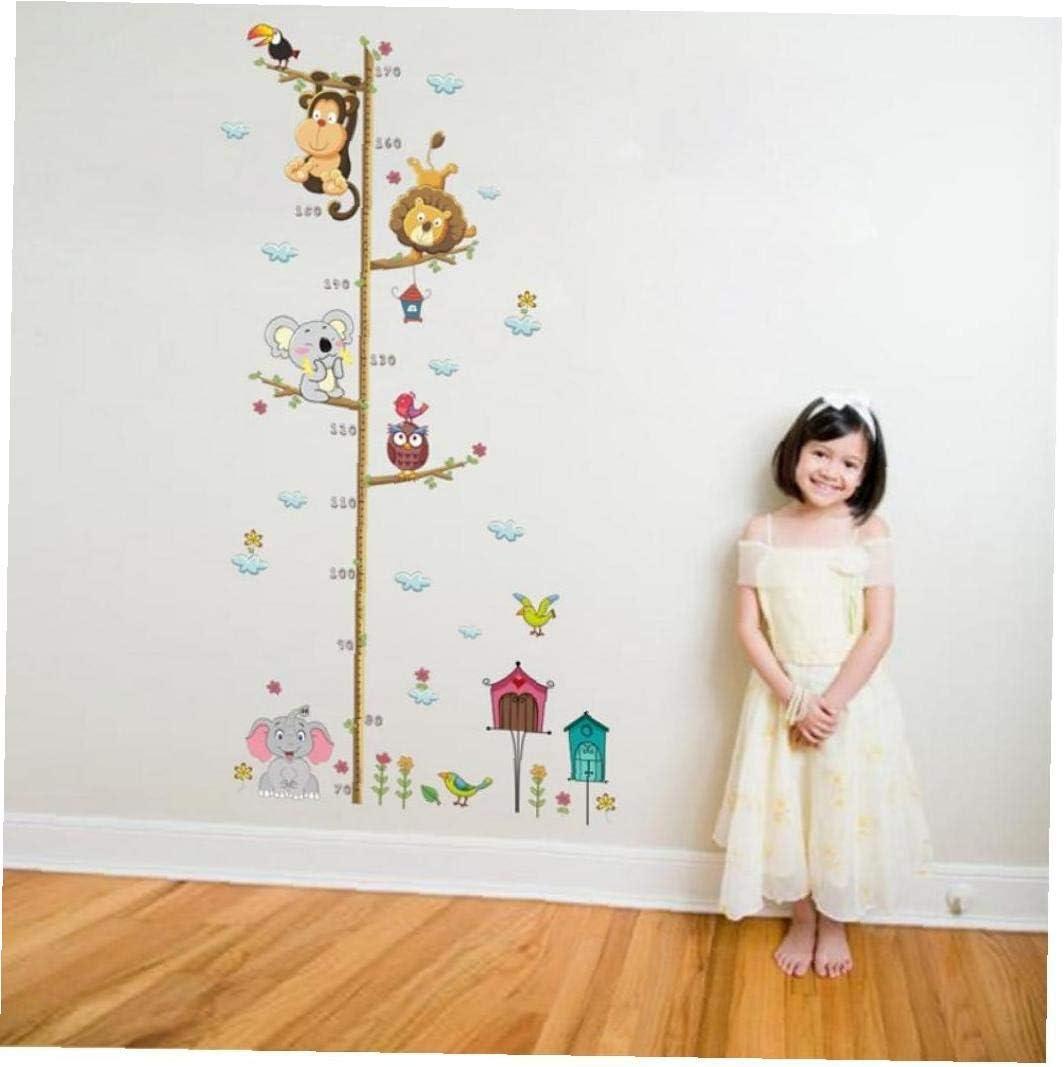 Casecover Cartoon Animaux Singe Hibou /él/éphant TOISES Mur Autocollant pour Les Enfants Chambres Croissance Tableau Nursery Chambre D/écor Wall Art