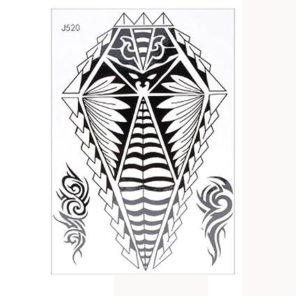 Imprimir negro Tatuajes Yesmile ❤ Tatuajes temporales ...