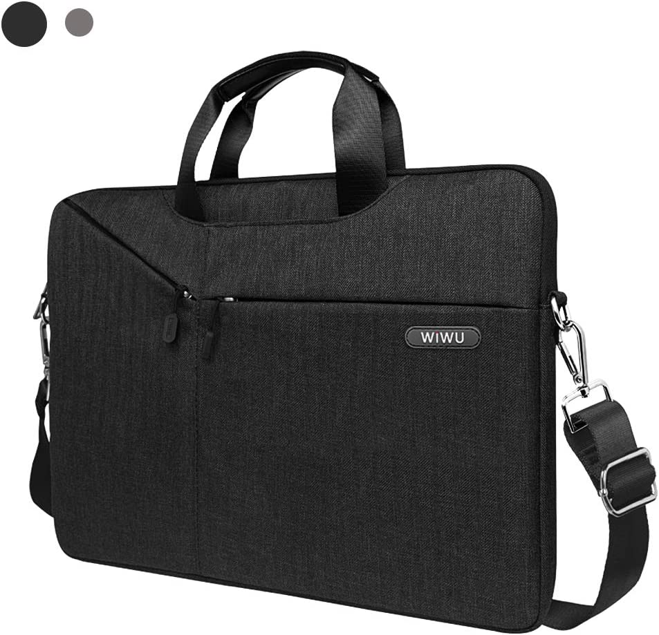WIWU Laptop Bag 13-13.5 Inch, Slim Laptop Carrying Case With Shoulder Strap for 13-inch MacBook Pro/Air, 13.5 inch Surface Book, Surface Laptop,Dell XPS 13 and more notebook (Black)