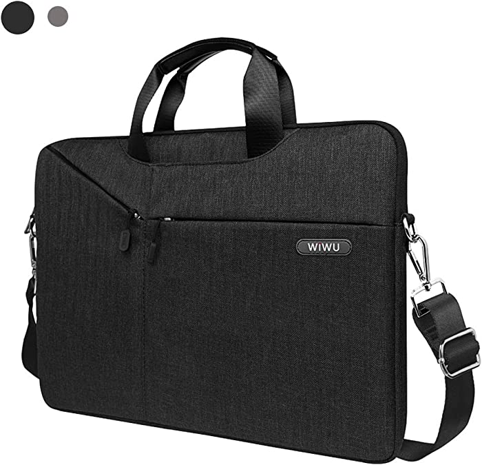 WIWU Laptop Bag 15.6 Inch, Slim Laptop Carrying Case With Shoulder Strap For Dell Inspiron 15 3000, HP Pavilion15.6 and More Asus Acer Thinkpad Notebooks.