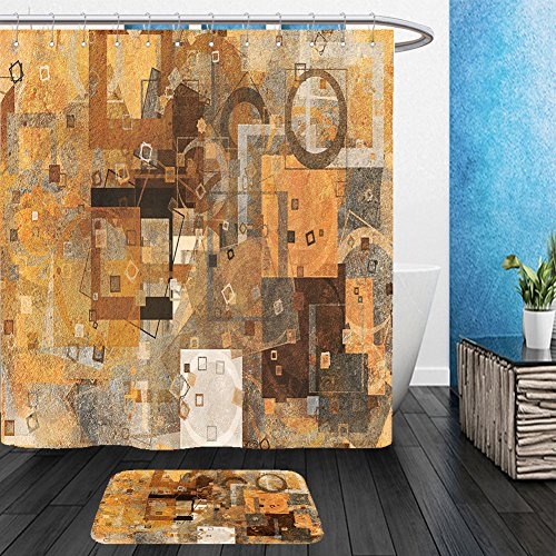 Vanfan Bathroom 2 Suits 1 Shower Curtains   1 Floor Mats Abstract Grunge Rough Blended Texture Overlay For Web Page Graphic Design Catalog Wallpaper 619348370 From Bath Room