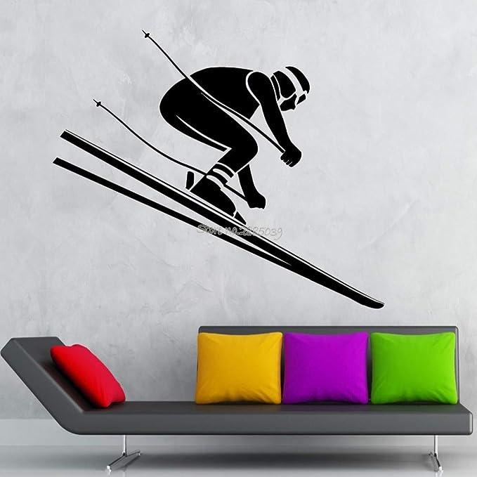 supmsds Etiqueta de la Pared Cartel Esquí Alpino Esquí ...