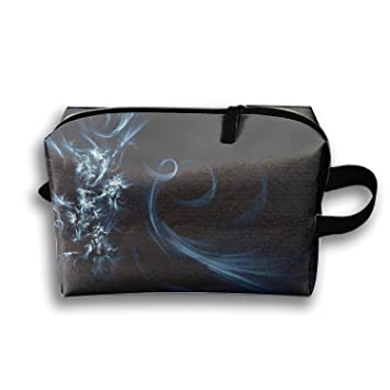 6875c05c5222 Amazon.com : Purple Swirl Background Cosmetic Bag Portable Ladies ...