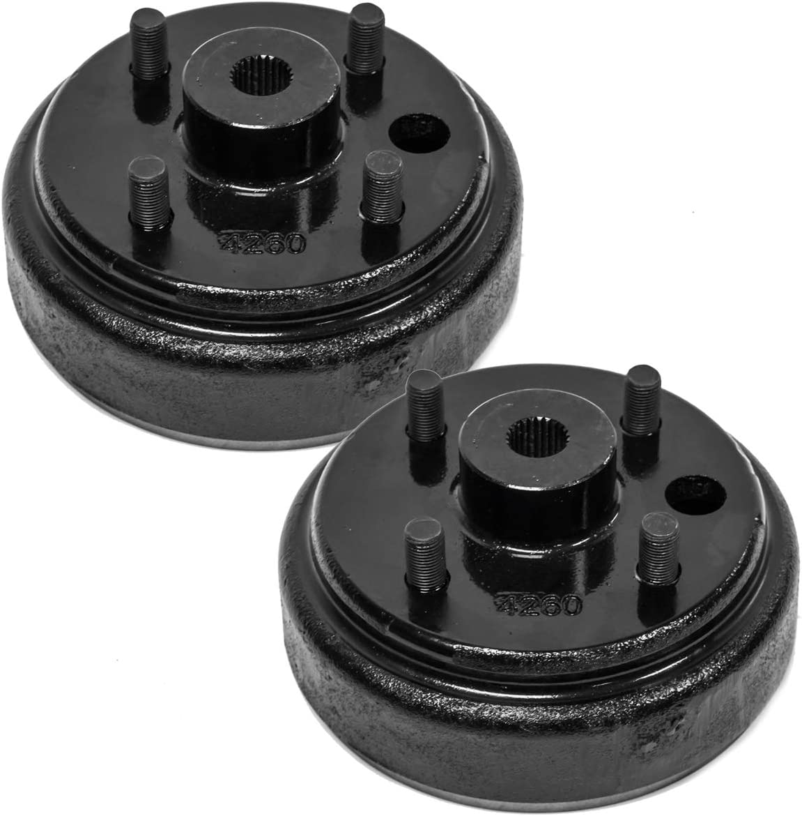 B07L4ZKWH3 (2) Brake Hub Drum Compatible with EZGO 1982 Up 4 Cycle Golf Carts 17082-G2, 17298-G1 & 19186-G1 61tSB2B0QmAL