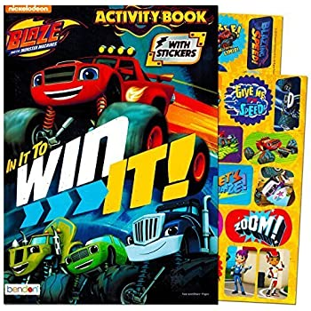 Blaze And The Monster Machines Coloring Activity Book With Stickers Featuring