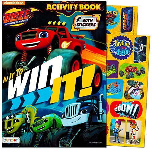Blaze and the Monster Machines Coloring and Activity Book with Blaze Stickers--Featuring Blaze and Friends!