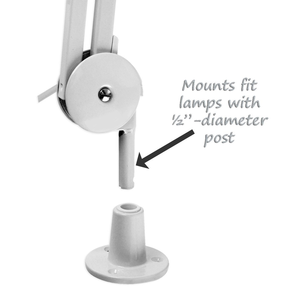 Magnifier Lamp Work Light Mounting Bracket Clamp - Choose from 4 Styles by Pro Magnify (Image #2)
