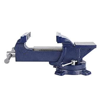 5 Heavy Duty Forged Steel Bench Vise With Anvil Swivel