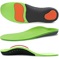 Ailaka Orthotic Cushion Arch Support Shoe Insoles, Unisex Daily Shock Absorption Gel Sports Inserts for Flat Feet, Plantar Fasciitis, Feet Heel Pain Relief