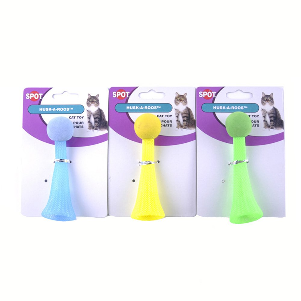 THE MIMI'S 3pcs Set Pet Supplies Cat Toys Green Yellow and bluee Flash Jump Ball Toy