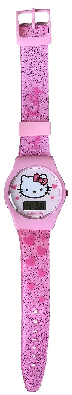 Hello Kitty - Reloj Digital con Correa de Silicona y Juguete de Hello Kitty, Color Rosa: Amazon.es: Relojes