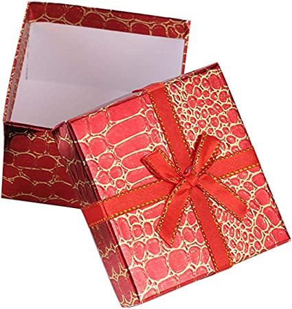 knowledgi Cajas de Regalo para Joyas Cajas de Regalo con Forma de Arco Caja de Regalo de cocodrilo para el día de San Valentín, Boda, cumpleaños, Aniversario: Amazon.es: Hogar