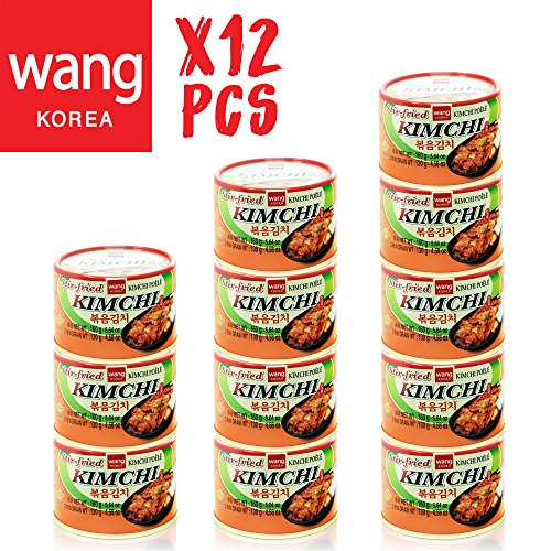 Korean Stir Fried Kimchi, Authentic Canned Napa Cabbage Original Tasteful Stir-Fry Kim Chi, Vegan Gluten Free No Preservatives - 5.64 oz/can (12 Count) (Napa Cabbage)