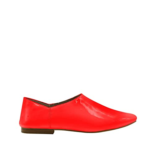 203fc78109f GottaBe Womens Fashion Red Flat Shoes Patent Leather - Comfortable Closed  Toe Ballet (6)