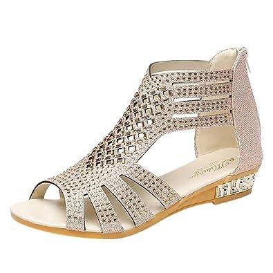 1fa353f0eb6626 Sandales Chaussures Femme - Mode Bouche de Poisson Ete Sandales Femmes  Tongs Plateforme Chaussures
