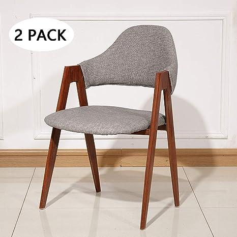 Amazon.com: MIMI KING - Juego de 2 sillas de comedor de ...
