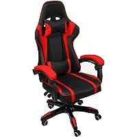 AudioTek Silla Gamer Gaming Consolas Pc Ergonomica Reclinable Colores (Rojo)