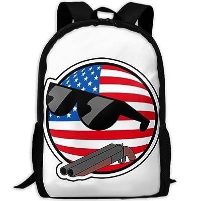 ZQBAAD USA Polandball With Gun Luxury Print Men And Women's Travel Knapsack