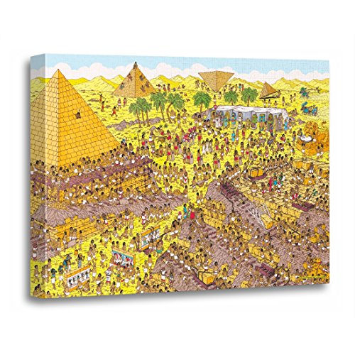 Wall Art Red Wheres Waldo Riddle of The Pyramids Wally Artwork