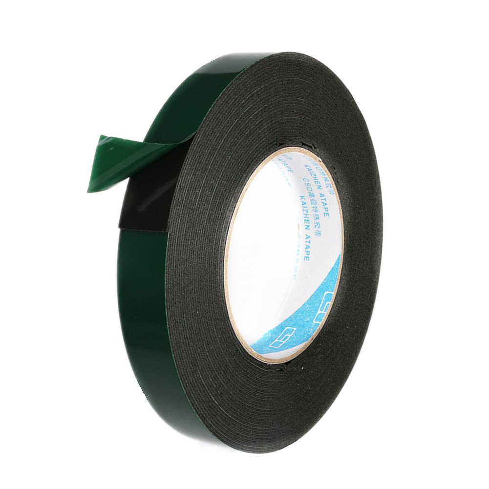 Black Mounting Adhesive Tape Double Sided Sponge Tape Waterproof Automotive Grade Number Plates Cars Trims by AOBRIION (Image #1)