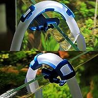 XEOGUIYA Fish Tank Aquarium Water Tube Clamp, Adjustable Plastic Fish Tank Pipe Holder, Curved Shape