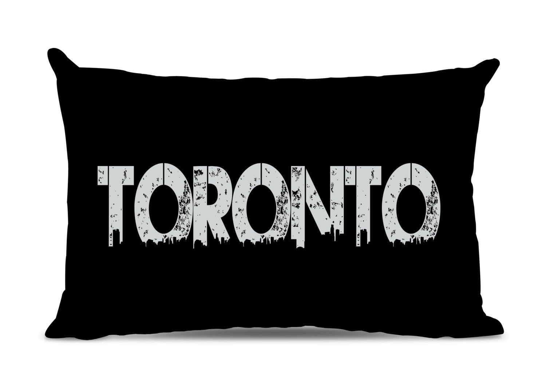 Toronto Pillow Toronto Skyline Pillow City Pillow Urban Throw Pillow Toronto Gift City Of Toronto Handmade