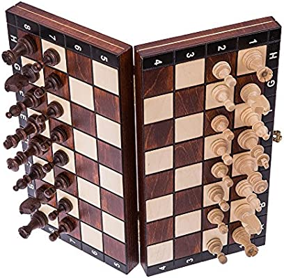 Square - Ajedrez de Madera - MAGNÉTICO - Tablero de ajedrez - 26,5 ...