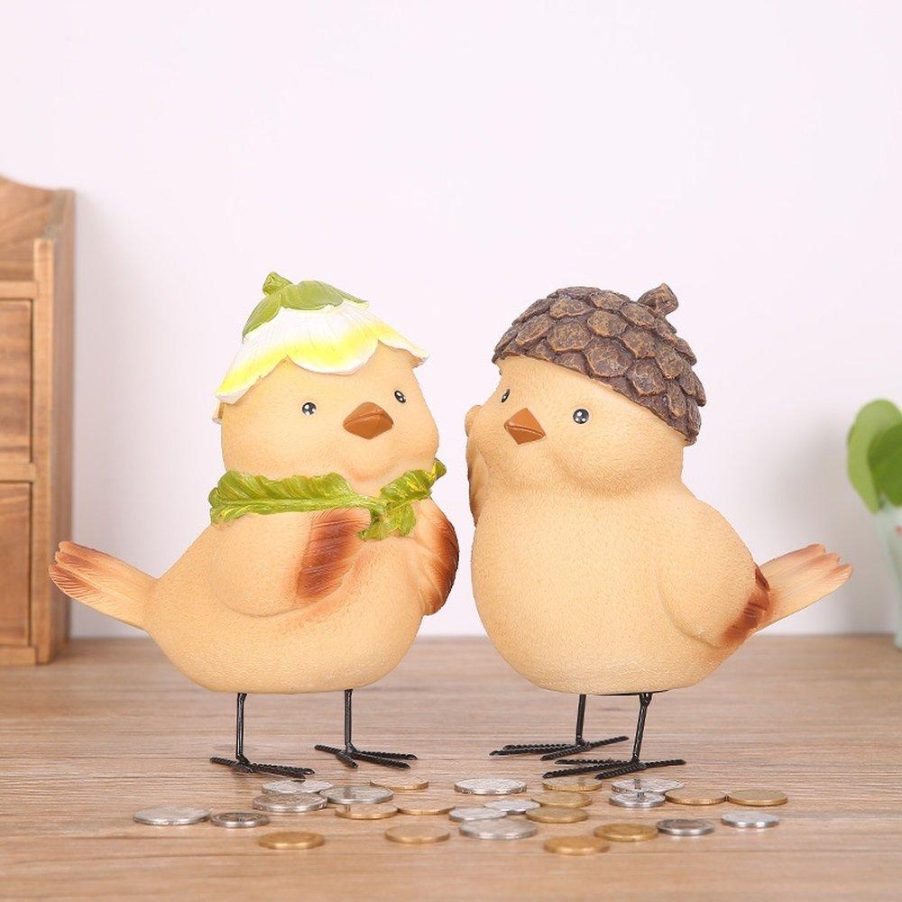 Bwlzsp 1 pair Creative cartoon cartoon grocery garden chicken chick large size resin technology child savings pot LU705111