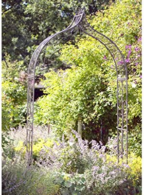 Rose arco metal antiguo 290 cm Pergola pérgola Tor: Amazon.es: Jardín