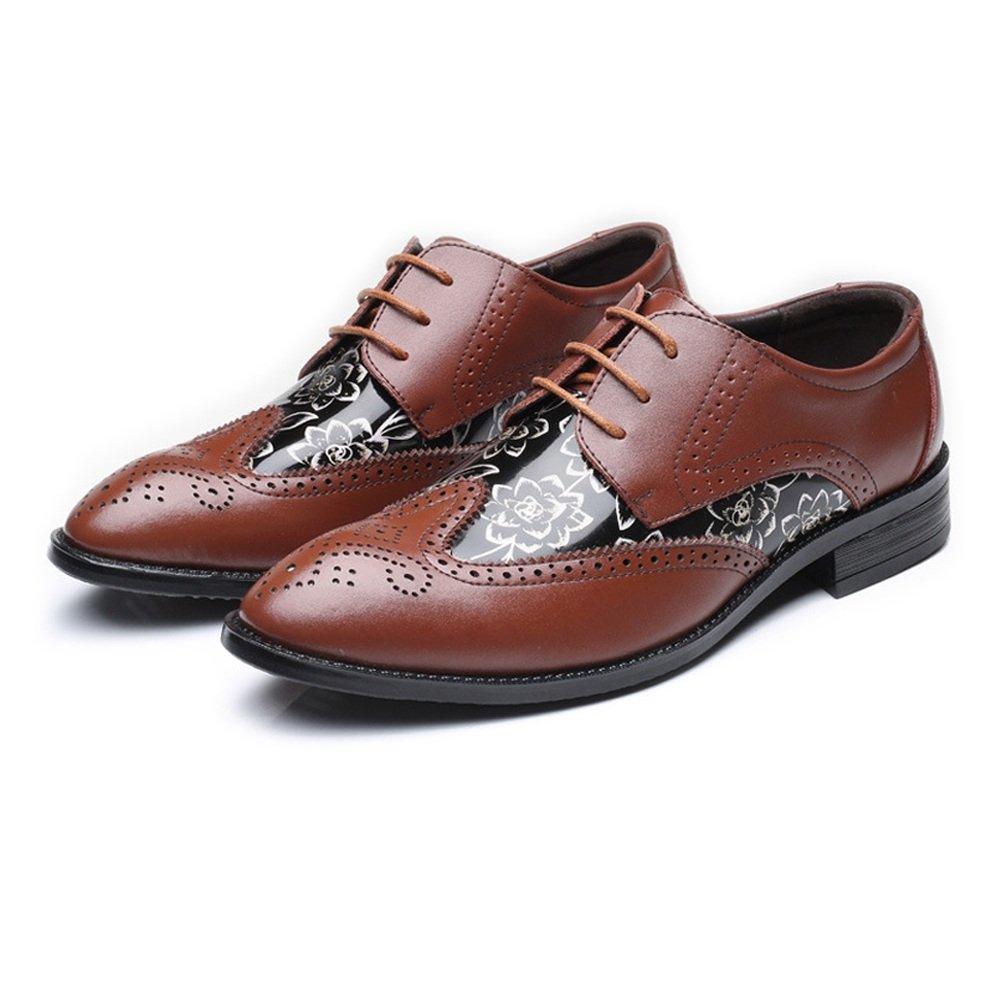 SCSY-Oxford-Schuhe Mode Mode Mode Herren Brogue Loafer Schuhe flügelspitze hohl schnitzen Splice Glatte Blaumenmuster pu Leder schnüren gefüttert Oxfords bis zu 10.5k  533dd7