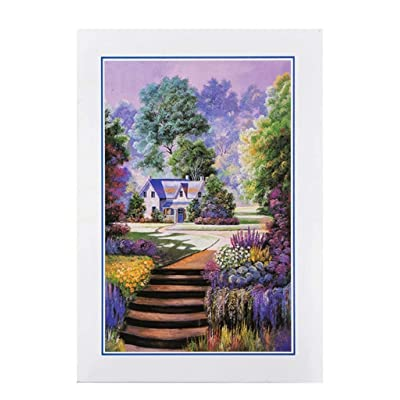 1000 Piece Jigsaw Puzzle for Adults & Kids - Beautiful Forest House Painting Landscape Educational Assembling Toys - Developing Fine Motor Skills & Shape Sorting - Gift for Birthday & Mother\'s Day: Toys & Games [5Bkhe0503291]